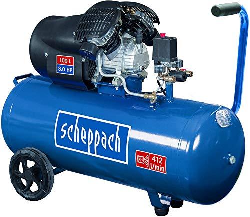 Scheppach Compresseur HC100DC, 230V, 50Hz, 2200W, 1pièce, Bleu/Noir, 5906120901 Norme