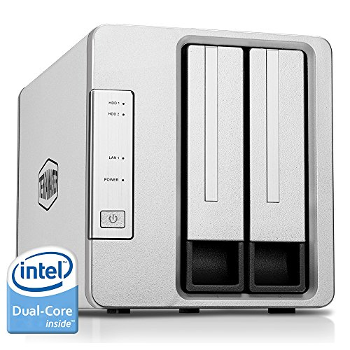 TERRAMASTER F2-221 NAS 2bay Cloud Storage Intel Dual Core 2.0GHz Plex Media Server Netwerkopslag (schijfloos)