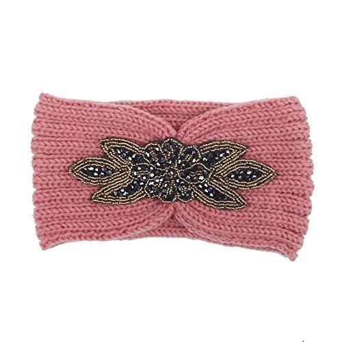 DAIFINEY Scrunchies,Haargummis Elastische Haarbänder Stricken Haarschmuck im täglichen Leben Geeignet für Verschiedene Haar Verschiedene Typen Pink/Pink