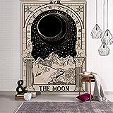 Tapiz de tarot de brujería india tapices de pared de sol y luna tapiz psicodélico tapiz de brujería tela de fondo a20 180x200cm
