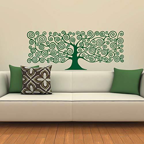 Wandaufkleber Kunst dekor baum des lebenspflanze kopfteile diy aufkleber haus dekoration für schlafzimmer kinderzimmer vinyl 58 * 23 cm