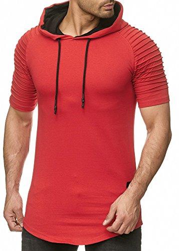 Verwaschenes T-Shirt Camp Vlnt (bis 5XL) LG-003 (XL, Rot-LG005 P)
