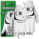 NEW Improved FootJoy WeatherSof Golf Gloves- Ladies Pair (Both LH & RH) - Choose Your Size (Medium, 1 Pair - Left & Right)