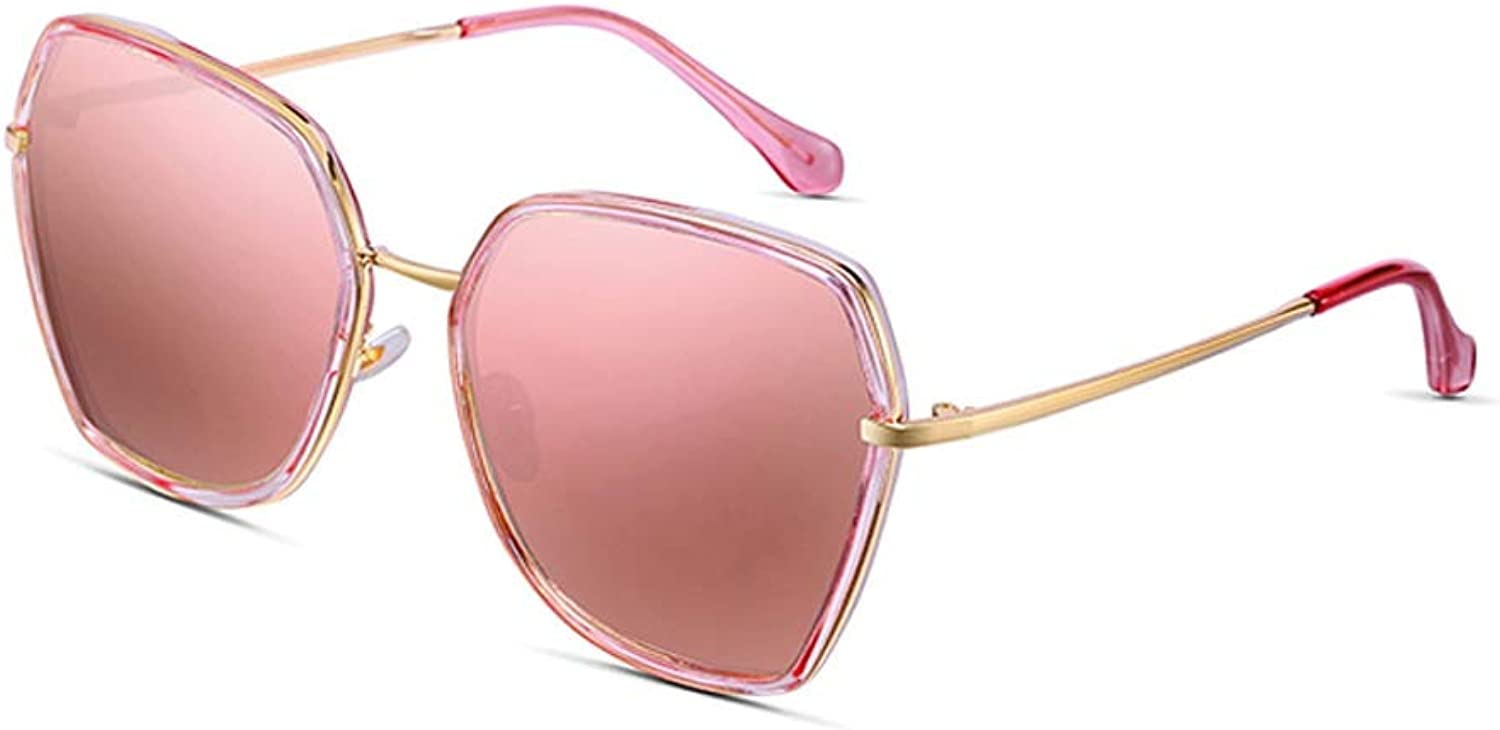 Women's Large Polarized Sunglasses UV Predection and AntiGlare UltraLight Wild Suitable for Outdoor Activities Or Driving Uv400 (Pink, Purple) (color   C)