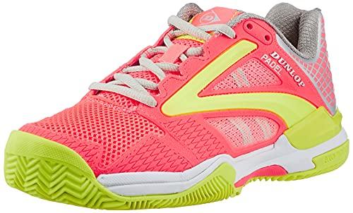 Dunlop D PFW Extreme Padel Womens Size UK5 /EU38, Tennis Shoe Mujer, Coral-Fluor, 38 EU