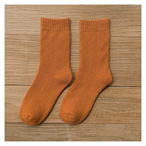 YUMYSANG Algodón 1 par de Calcetines Mujeres y Hombre Invierno espesados cálidos Calcetines Calcetines de Las señoras Calcetines de Piso Calcetines de Lana Calcetines de Toalla Divertidos