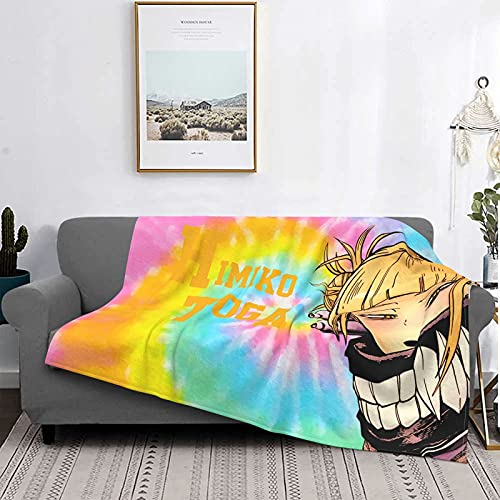 My Hero Academia-Himiko Toga Manta de felpa suave y cálida manta ultra felpa sofá cama 203 x 152 cm