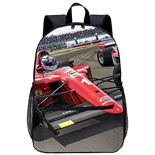 Waniyin Mochila 3D Mochila Infantil-Forza Motorsport 6-Adecuado para: estudiantes de primaria y secundaria, la mejor opción para viajes al aire libre-Tamaño: 45x30x15 cm / 17 pulgadas-Mochila Hombre