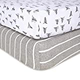 Burt's Bees Baby - Fitted Crib Sheets, 2-Pack, Boys & Unisex 100% Organic Cotton Crib Sheet for Standard Crib and Toddler Mattresses (Pine Forest)