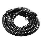 Trisonic 25ft Modular Coil Cord (Black)