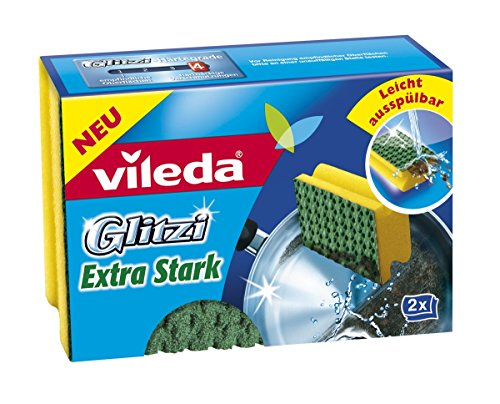 Vileda 133206Glitzi Extra forte pentola detergente, 2pezzi