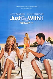 Just Go With It Movie Poster Double Sided Original 27x40