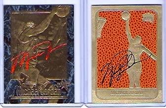 michael jordan gold signature card