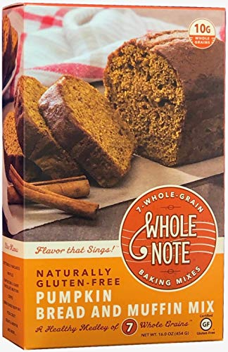 Whole Note Pumpkin Bread & Muffin Mix, 7-Whole-Grain and Naturally Gluten-Free (Single Package)