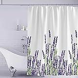 YISUN Anti-Schimmel Duschvorhang, Anti-Bakteriell Duschvorhang, waschbar mit 12 Duschvorhangringen (Lila)