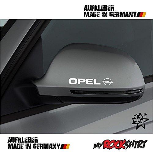 2 x Spiegel Aufkleber Spiegelaufkleber Opel Aufkleber Autoaufkleber Auto Tuning Sticker Aufkleber mit Montage Set inkl.
