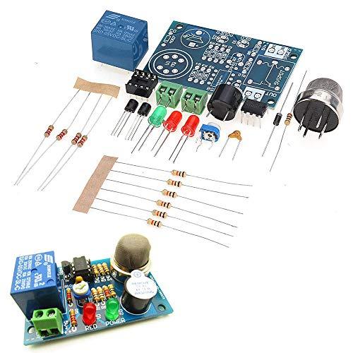 LYYCEU Kit de Bricolaje electrónico MQ-2 Sensor de Humo Detector Lifelike Gas Alarma de componentes Kit Módulo electrónico