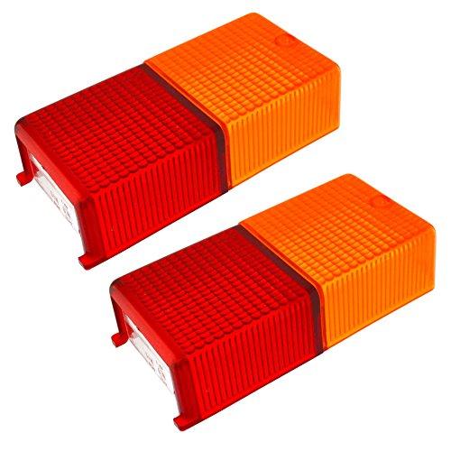AB Tools Paire de lentilles de Remplacement des Feux de remorque remorques d'éclairage Convient, Caravane TR211
