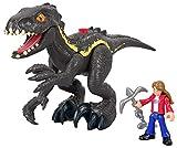 Imaginext Jurassic World Indoraptor & Maisie, figura de acción y juguete de dinosaurio (Mattel GKL51)