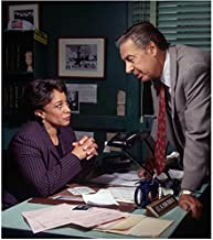 Law & Order Detective Briscoe talking with Lt. Van Buren seated at desk 8 x 10 Inch Photo