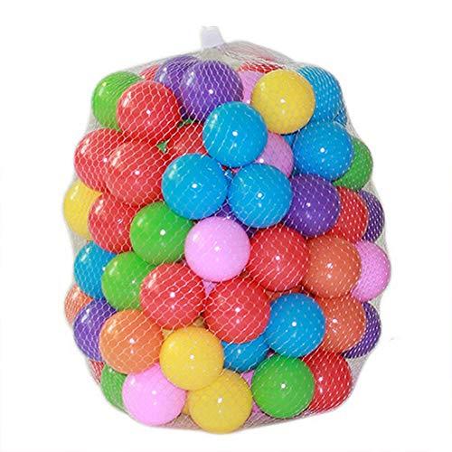 200 Bolas Multicolor De 5,5 Cm Diámetro, Pelota De Plástico Suave para El Océano,con Bolsa De Transporte Transparente para Interior Y Exterior, Piscina, No Tóxica Y Sin BPA, Color Surtido