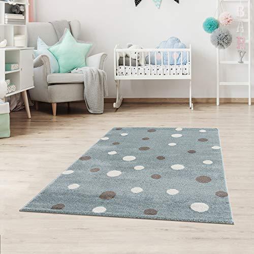 Alfombra infantil con lunares, puntos, alfombra para niños y niñas, para habitación infantil, sin sustancias nocivas,...