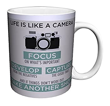 life is like a camera focus mug