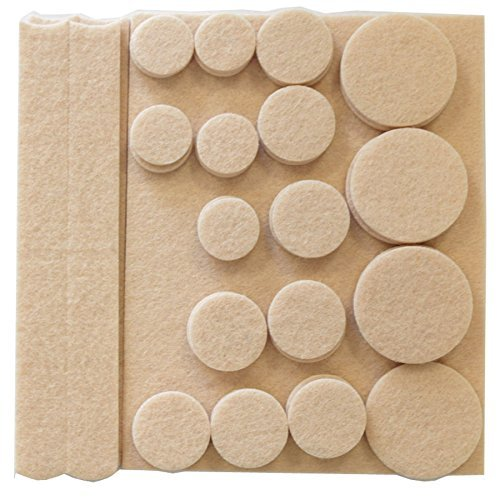 NEW 27 PC ASSORTED SELF ADHESIVE HEAVY DUTY ANTI SKID FURNITURE WOOD FLOOR PROTECTIVE 27PC FELT PADS PROTECTOR FEET RUBBER ROUND by SMART SHOPPING