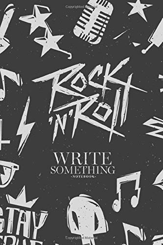Notebook - Write something: Monochrome astronaut with aliens notebook, Daily Journal, Composition Book Journal, College Ruled Paper, 6 x 9 inches (100sheets)