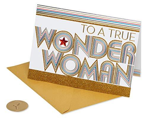 Papyrus Wonder Woman Card (Birthday, Thank You, Friendship)