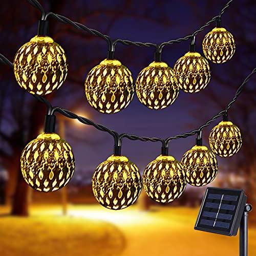 Senhui Lámpara solar, cadena de luces LED, 7 m, 50 luces LED,...