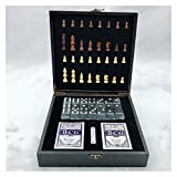 XCYY 4 En 1 Conjunto De Ajedrez Internacional De Lujo Magnético Plegable Plegable Juegos De Mesa Regalos De Juguete Juego De Ajedrez (Color : 4 In 1 Chess)