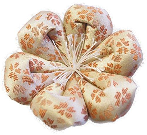 りん布団 国産 おりん用の 花型 リン座布団 桜柄 (1号 直径9cm, 日和 オレンジ)