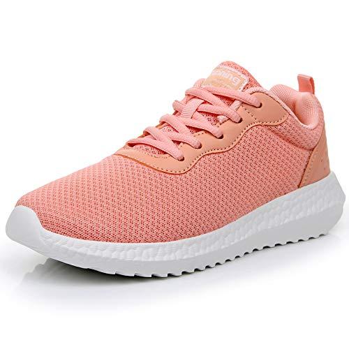 GOOBON Women's Memory Foam Running Tennis Shoes Lightweight Gym Jogging Sports Athletic Walking Sneakers Orange US7.5/EU 39A
