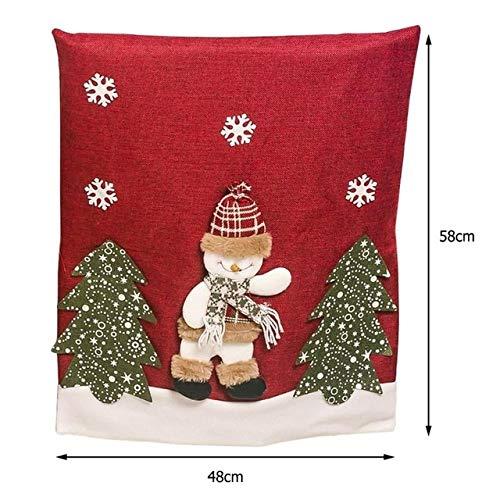 QZXCD Stoelbedekking Kerstmis stoelbedekking Kerstman muts hoed vakantie Nieuwjaar party zitting case Kerstmis party stoel hoes cover wooncultuur 1 Stück D