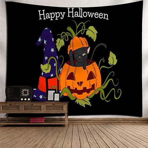 Arazzo di Stampa 3D in Poliestere, Arazzo di Stampa di Zucca di Halloween, Arazzo di Decorazione della Casa di Halloween