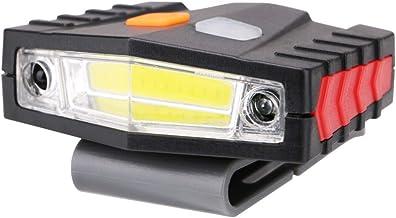 Hoofd Torch COB LED Inductie Hoed Clip Lichten Koplamp Vissen Touch Sensor Koplamp USB Opladen Cap Hoofd Lantaarn Clip Op ...
