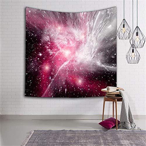 WERT Tapiz de Nebulosa Brillante Tapiz de Pared Tapiz estética Boho decoración decoración del hogar Tela de Fondo A13 180x200cm