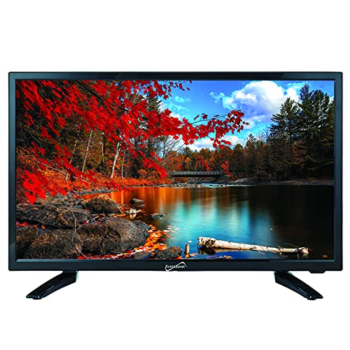 SuperSonic SC-2411 LED Widescreen HDTV & Monitor 24 Flat Screen with USB Compatibility, SD Card Reader, HDMI & AC DC Input Built-in Digital Noise Reduction (DC Cable not Included)
