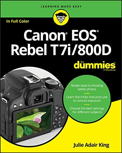Canon EOS Rebel T7i 800D For Dummies For Dummies Computer Tech product image