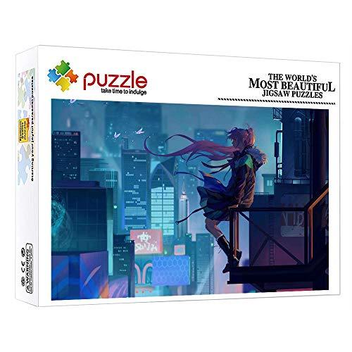 ZTCLXJ Rompecabezas 1000 Piezas para Infantiles Adolescentes 1000 Piezas Color Surtido Puzzles Personajes De Anime Girl Juguete Educativo para Regalos De Cumpleaños Hijo Hija 52 × 38 Cm