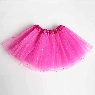 Kids Baby Star Glitter Dance Tutu Skirt for Girl Sequin 3 Layers Tulle Toddler Pettiskirt Children Chiffon 2-8T