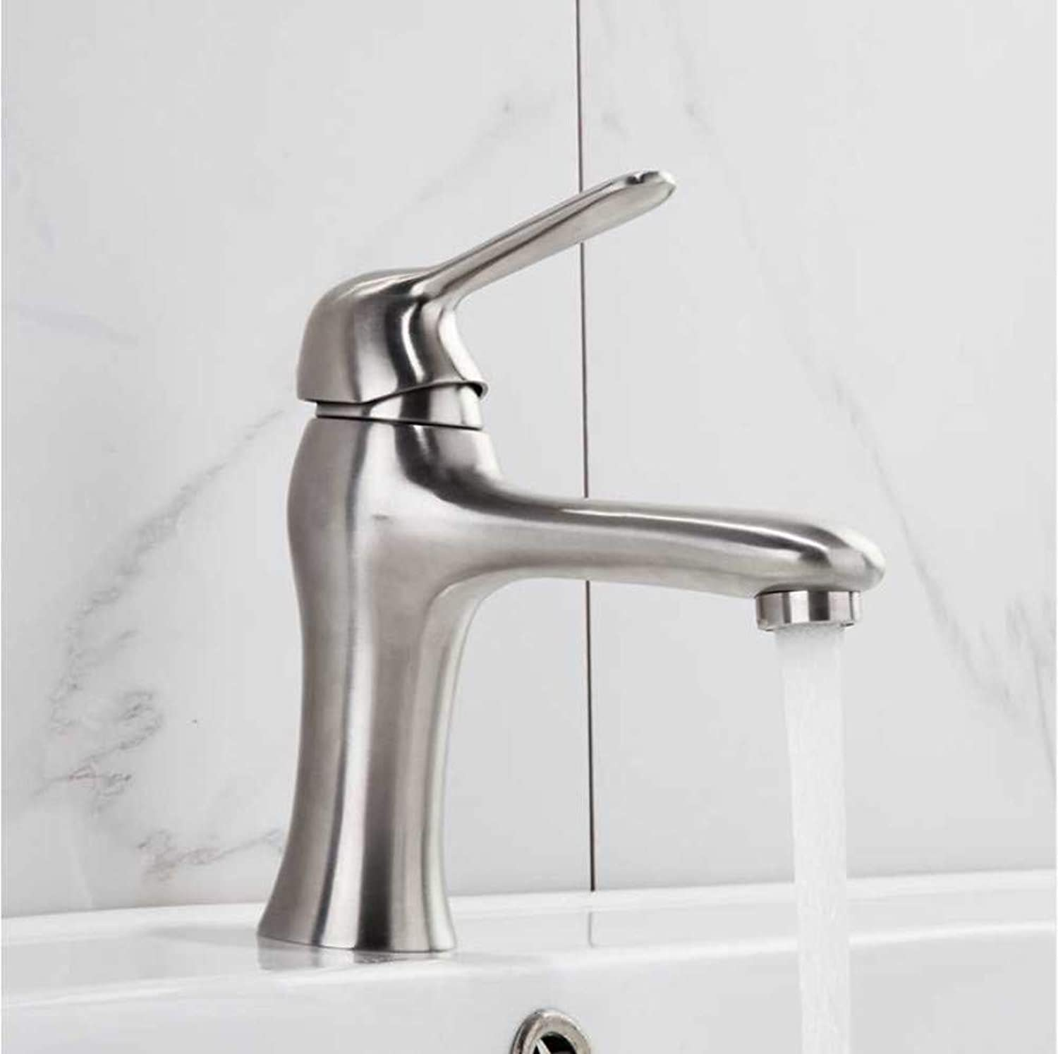 Jukunlun Basin Faucets Stainless Steel Water Taps Basin Sink Faucet Taps Mixers Bathroom Water Faucet Fitting