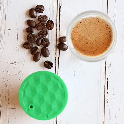 21sandwhick Kaffeekapsel, Wiederverwendbarer Edelstahl-Kaffeekapselbehälter-Filterersatz Für Dolce Gusto
