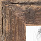 ArtToFrames 9x12 Inch Brown Picture Frame, This 1.5' Custom Wood Poster Frame is Real Reclaimed Brown Barnwood 1.5 Inch, for Your Art or Photos - Comes with Regular Glass, WOMRFB-150-TOB-9x12