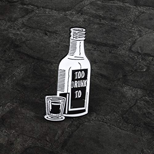 Musica punk Vodka Pin Dead Kennedys famosa canzone spille distintivi punk spilla vintage Rock regalo...