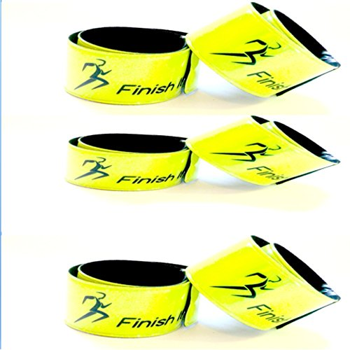 Finish It! Gear – Reflective Snap Wrist & Ankle Bands – Reflective Gear for Running, Walking, Biking (6 Pack)
