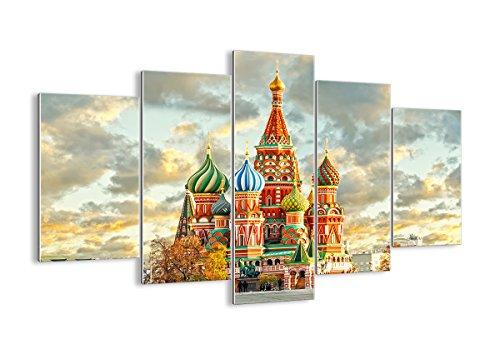 Cuadro sobre vidrio - Impresiones sobre Vidrio - Rusia moscú catedral cuadrado rojo - 150x100cm - Decoracion de Pared - Impresión en Vidrio - Cuadro en vidrio - Cuadro de Cristal - GEA150x100-2821