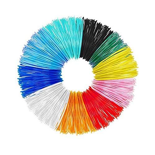 Odoukey 3D Penna filamento ricariche PLA, 3D Penna filamento Rilitor Diametro di Alta precisione filamento per Intelligent 3D Pen (10colors, 1,75 Millimetri)