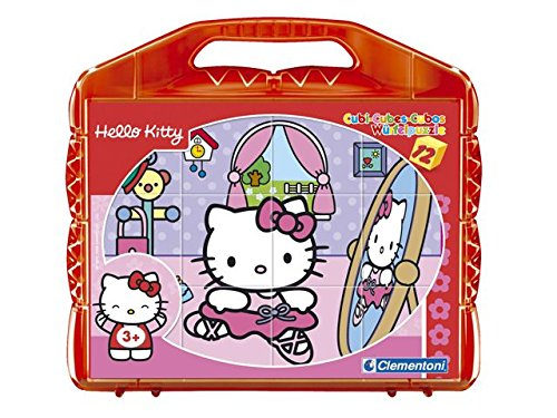 Clementoni 41153 - Puzzle Cubi Hello Kitty, 12 Pezzi